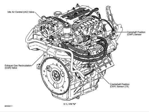 where is the egr valve located on 2001 malibu