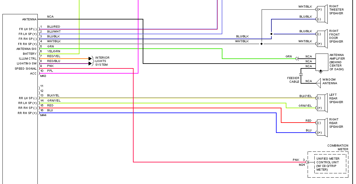 2001 nissan altima stereo wiring diagram i am trying to find a radio wiring diagram for a 2007 ... #7