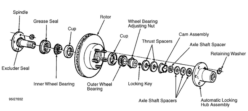 1996 ford f150 front axle diagram