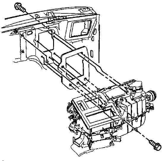 Replacing The Heater Core On A 2002 S10 Blazer. Cannot Get