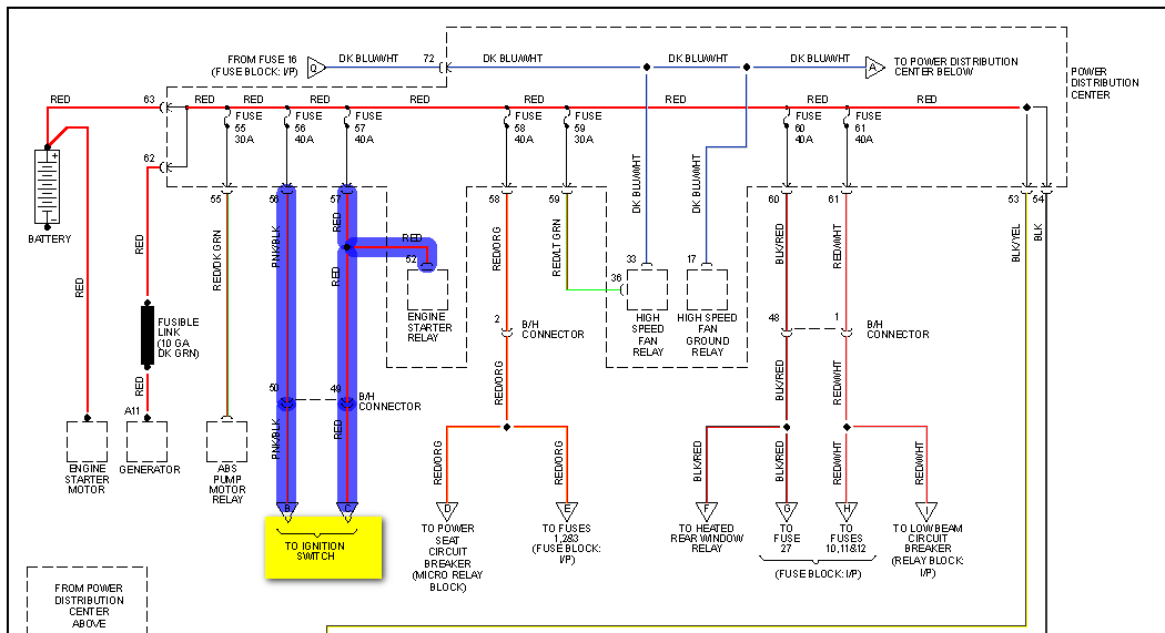 dodge caravan remote starter a diagram for the wiring under the hood combine these diagrams i have already sent you and they show where all ignition switch wiring goes to i realize it is a pain having to multiple
