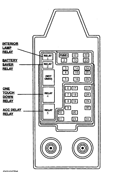 diagrams for both fuse boxes for 1997 f250 light duty auto trans 5 graphic