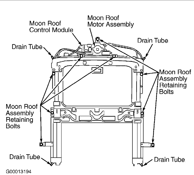 Moonroof on 2000 Lincoln Ls Window Parts Diagram