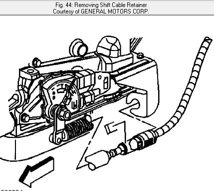 13ve9 2003 Chevy Silverado 1500 Cab V8 The Shifting Cable Bracket