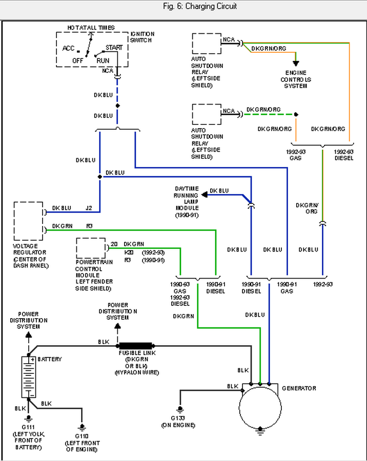 i am looking for the wiring diagram for a 1991 dodge diesel 2500 graphic