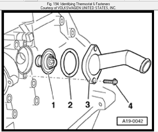 how do you replace the thermostat in a 2004 jetta and