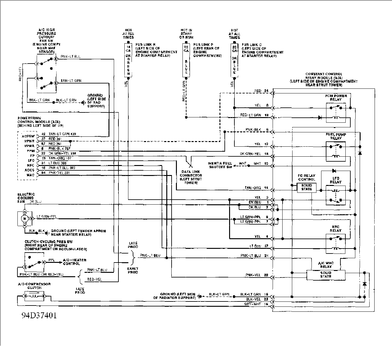 need wiring diagram for 1994 ford tempo electric cooling graphic