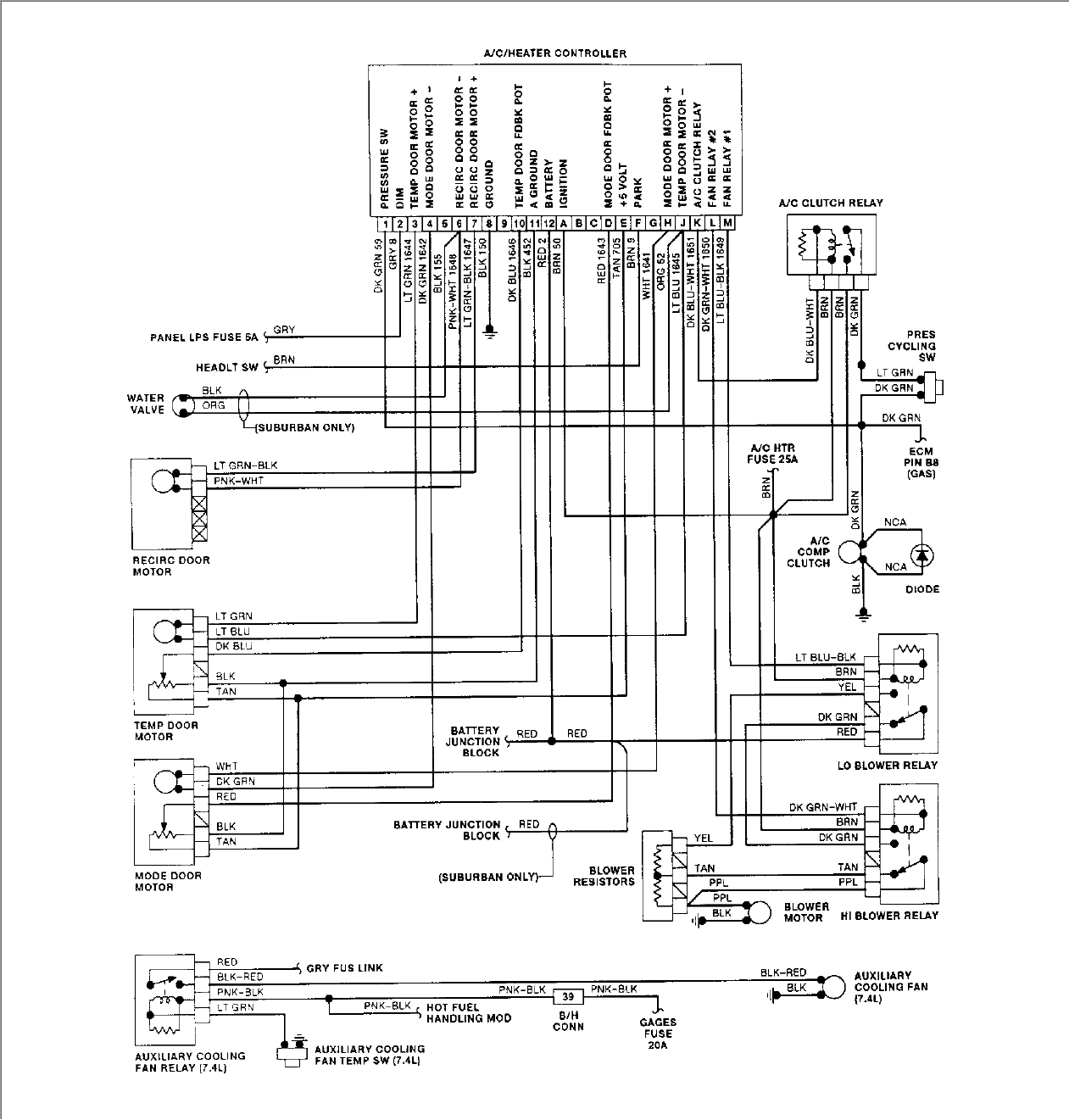 where do i ac relay on 92 chevy silverado unplug the connector from the pressure switch and insert a jumper wire between the two terminals in the connector