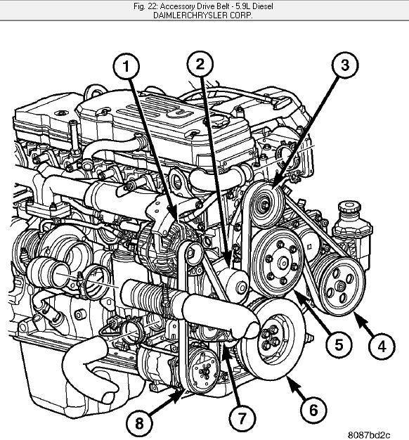 2004 dodge ram serpentine belt diagram