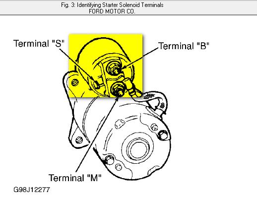 Where Is The Starter Solenoid On A 2001 Ford Ranger Edge V6