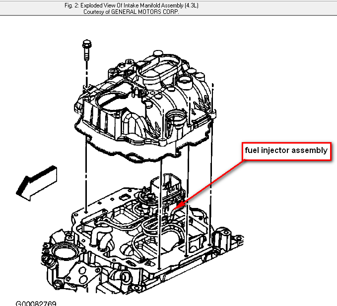 where is my fuel injector located on a 98 chevy s10 blazer and what does it look like