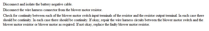on Dodge Dakota Heater Resistor Problem