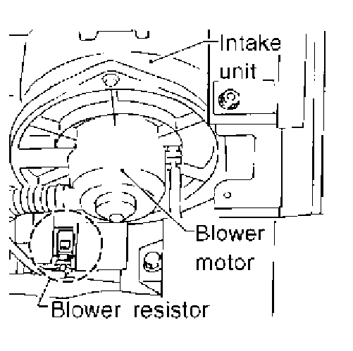 where is the blower motor resistor on a nissan pathfinder