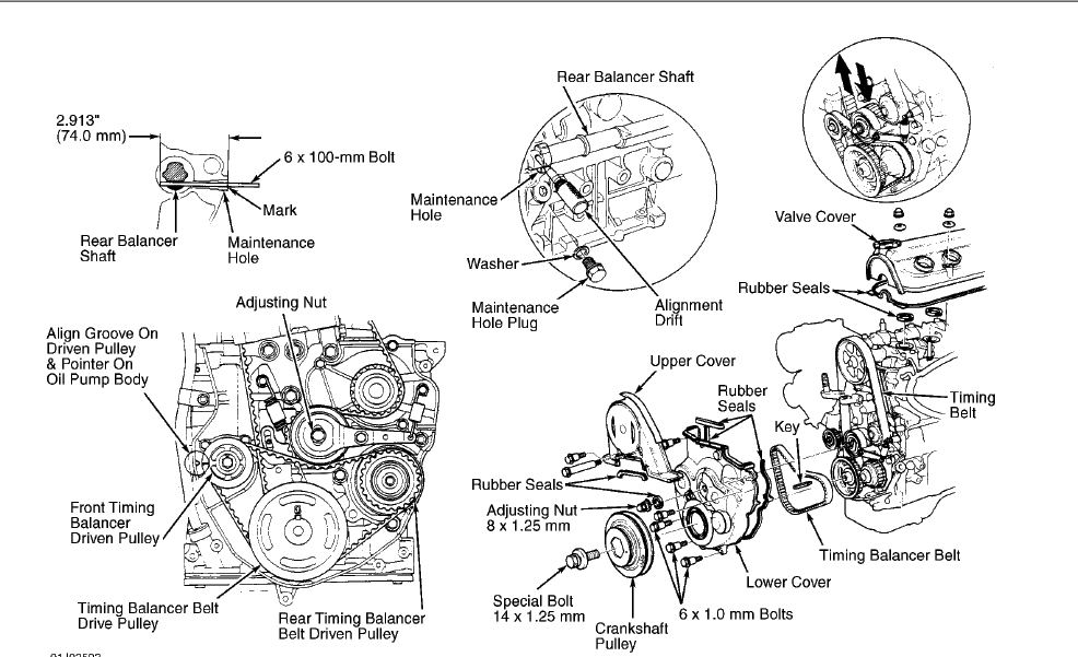 service manual  how to replace timing tensioner 1992 honda