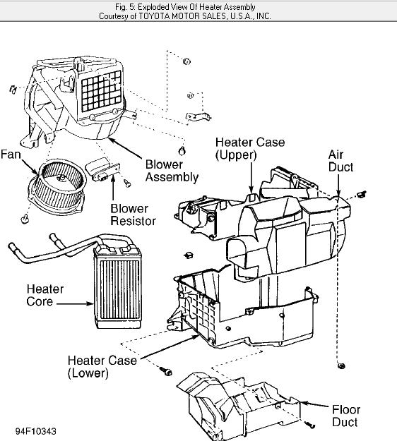 i need to r u0026r the heater core on a 1995 toyota tacoma  do you have step by step instructions or