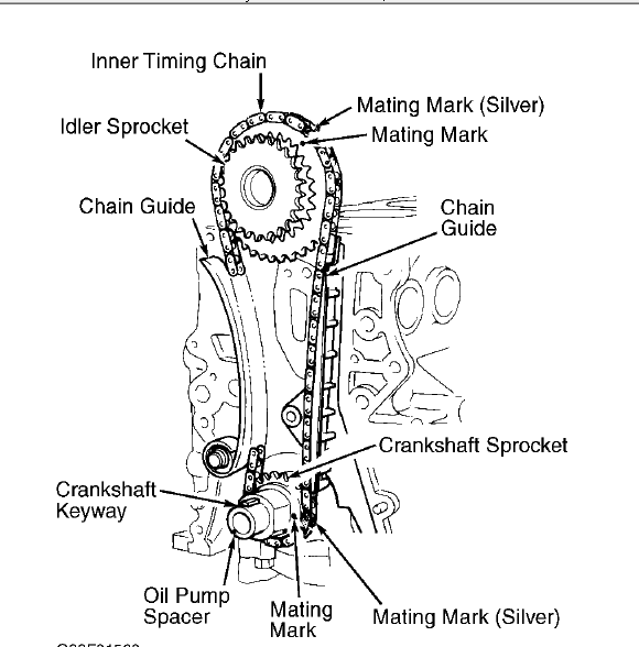Where Can I Find A Diagram For The Timing Chain Setup For The Camshafts And Cam Gears For A 1991