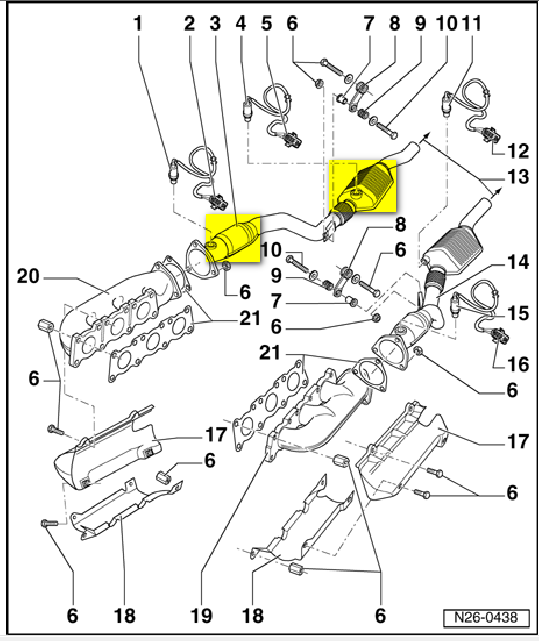 32 2004 Vw Passat Exhaust Diagram