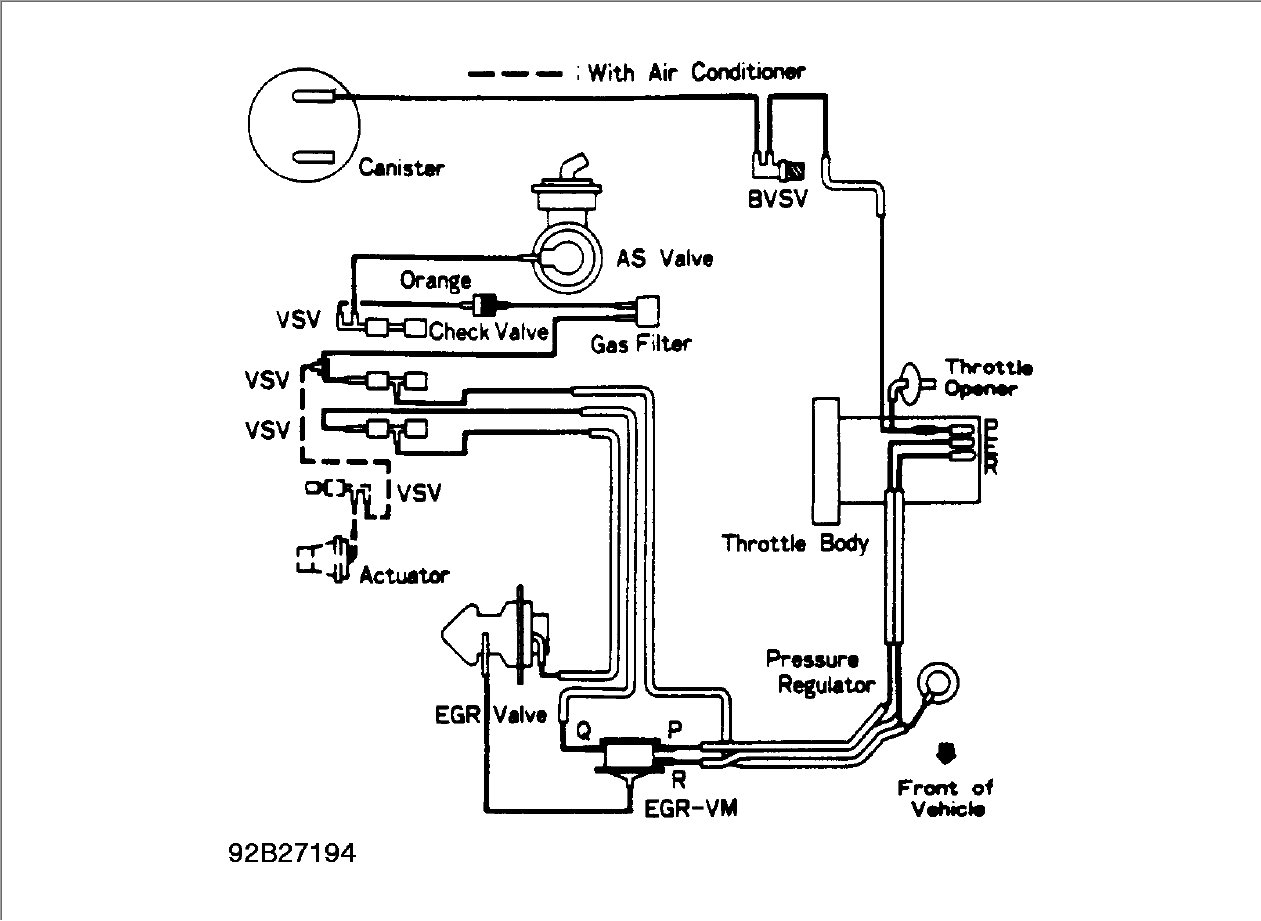 21avv Vacuum Hose Diagram 1992 Toyota 4runner V6 3 0liter on 2 4 liter toyota engine wiring diagram