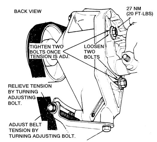 jeep cherokee serpentine belt tighten