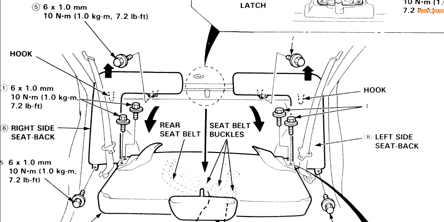 94 honda civic 4 dr rear seat removal. Black Bedroom Furniture Sets. Home Design Ideas