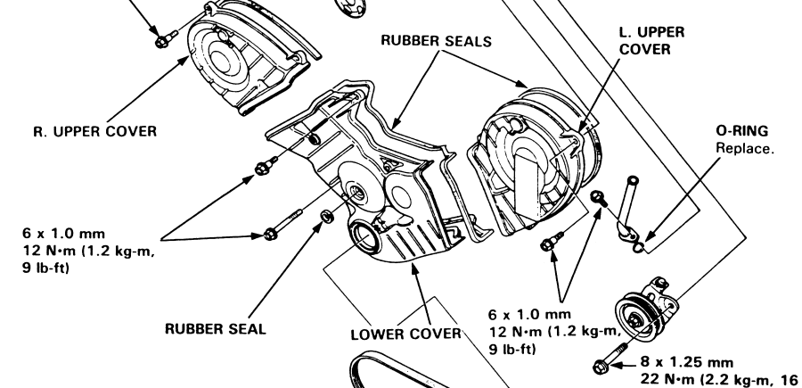 service manual  1992 acura legend water pump replacement