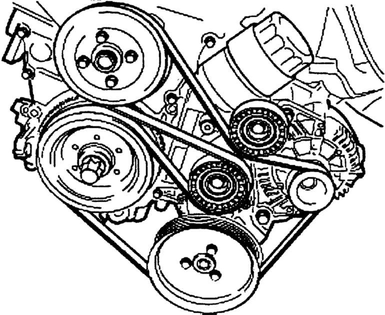 1997 bmw 318ti diagram for routing drive belt
