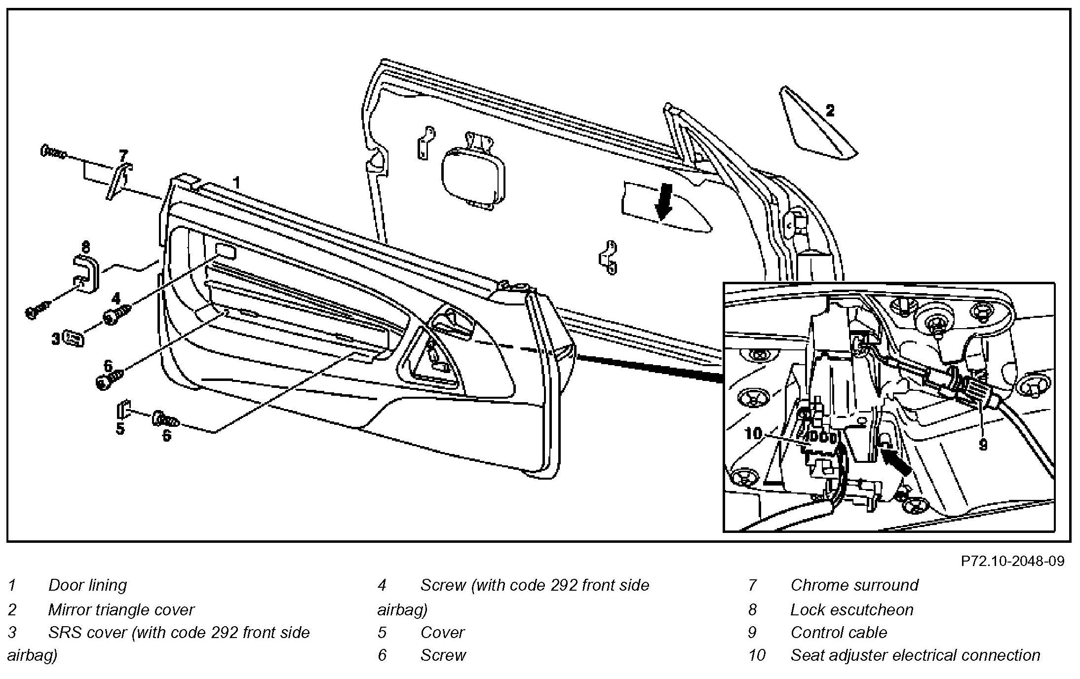 how to remove door panel on 2002 sl500