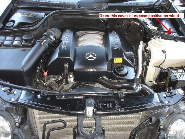 dead battery locked trunk 2002 mercedes clk320