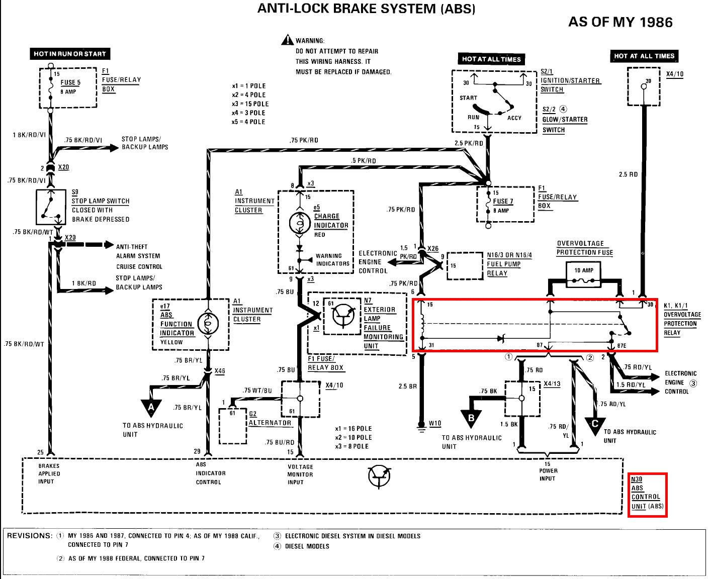 abs system diagram