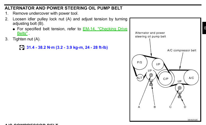 Fan  U0026 Alternator Belt Installation Instructions For A 2005