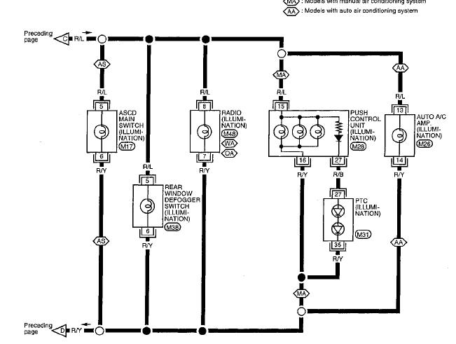 nissan altima parking light wiring diagram