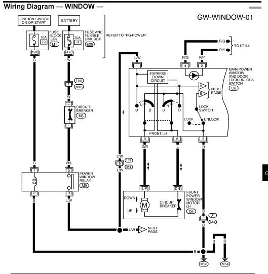 i need the wiring diagram for the pin connector on a drivers side door window switch for a 2003