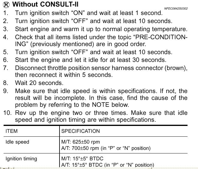 2007 Pontiac Vibe Transmission: Service Manual [How Do You Reset The Idle Speed Relearn On