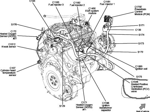 where is pcv valve on 2002 4 2l v6 engine  how do i get at to replace