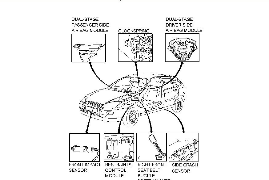 Ford Fiesta Airbag Sensor Location likewise Airbag Control Module Location On 2012 Escape as well Mitsubishi Galant 2002 Mitsubishi Galant Speedometerodometer Not Working Aft together with Front Impact Sensor Location further 4961n Ford F150 Pickup Super Cab 2001 Ford F150 Supercab. on 2001 ford focus air bag sensor locations