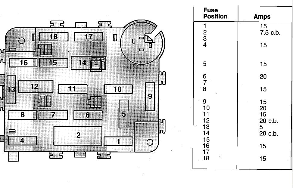 i need to a fuse diagram for a 1988 ford e350 graphic