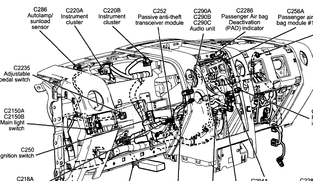 2000 ford f 150 security module location  ford  wiring diagram images
