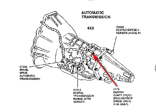 ford transmission speed sensor location