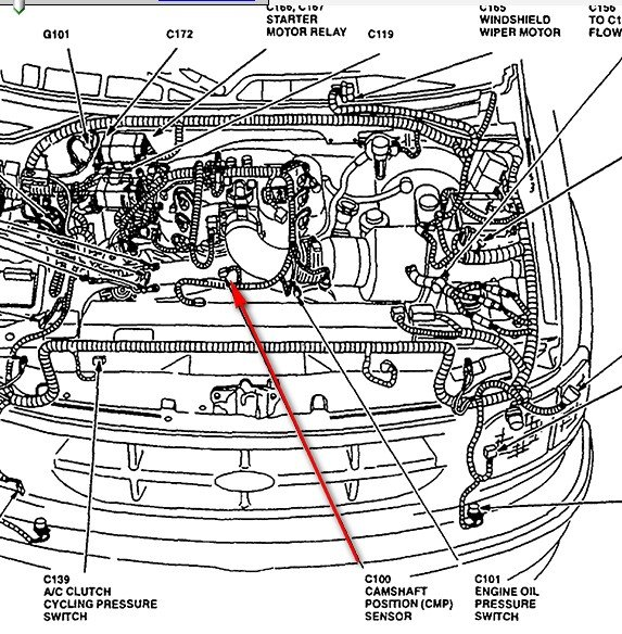 Lexus Engine Number Location moreover 1ct0i Crankshaft Position Snsor Located 02 Ford Mustang also 2006 Ford Focus Crankshaft Position Sensor Located On 2 further Chevy 1996 S10 2 2l Engine Diagram also T14518805 Camshaft position sensor 2003 ford. on ford camshaft position sensor location