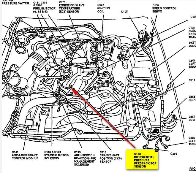 Ford Dpfe Sensor Location on 2005 jeep liberty engine diagram