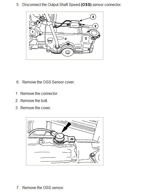 how do i install a new output speed sensor for a ford