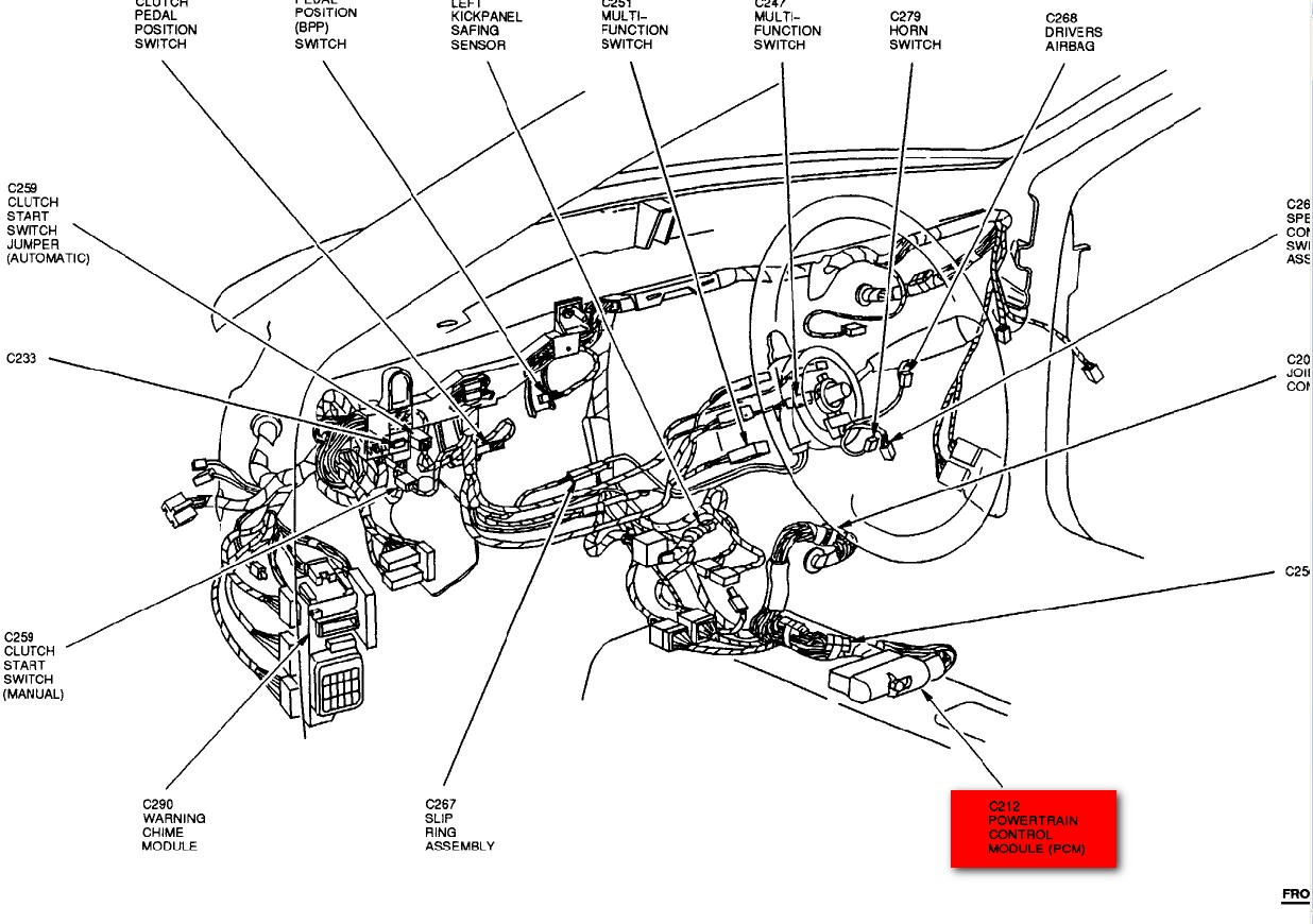 for a 1992 ford explorer power steering pump location