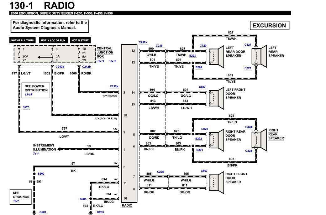 im changing from a stock radio in my 97 explorer to a ... 97 explorer radio wire diagram