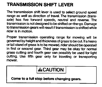 L on Lawn Chief Parts Manual