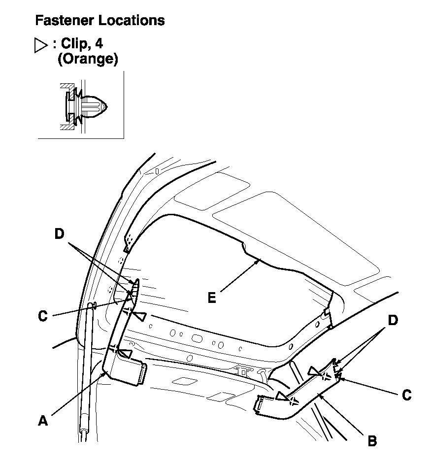 2001 honda odyssey tailgate liftgate chrome molding