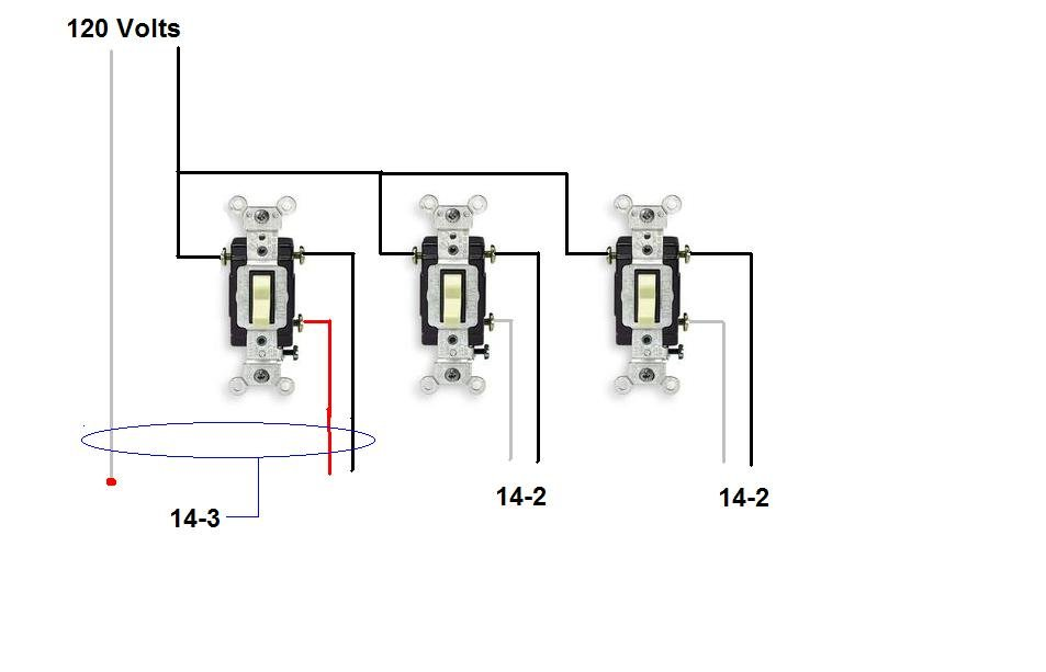 3 way switch diagram multiple lights