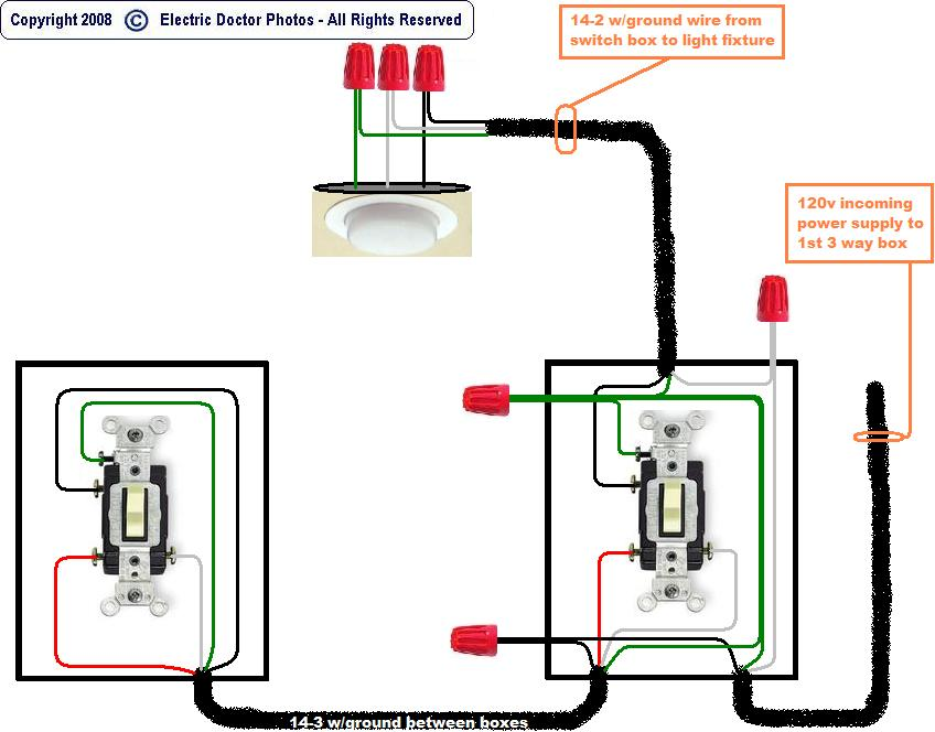 how do i wire 2 switches for same set of lights, Wiring diagram