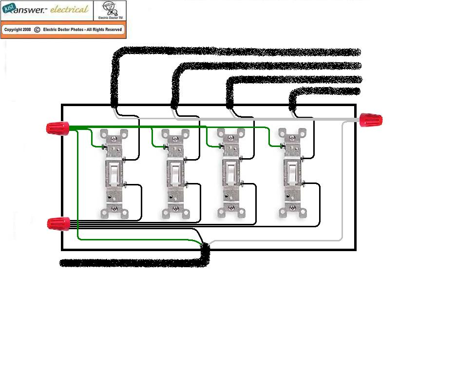 a gang switch wiring 4 gang switch wiring diagram