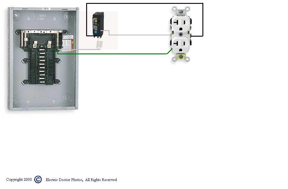 could you draw a diagram showing the connections for a gfi