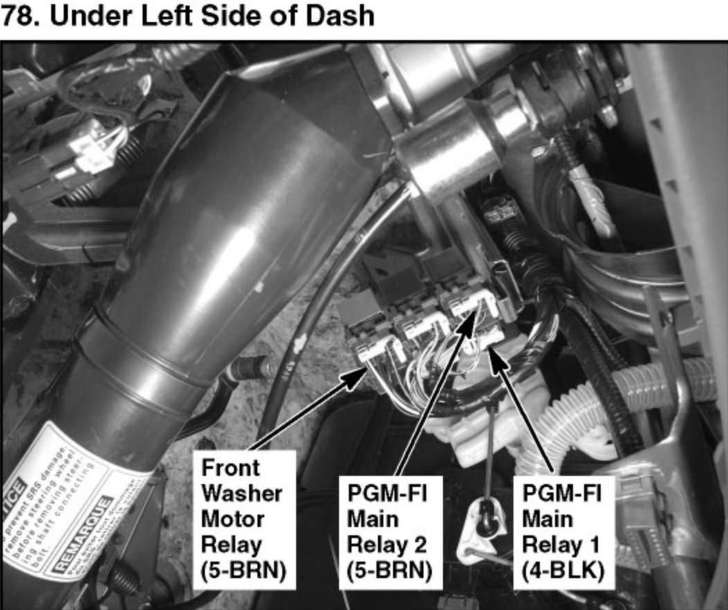 2006 Honda Accord Relay Location  Honda  Wiring Diagram Images